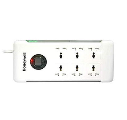 honeywell hc000007 srg-1.5m-wht-6 6 out surge protector with master switch