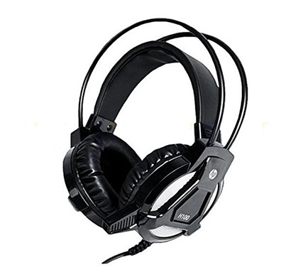 hp h100 (3dr59a) gaming headset with mic (black)