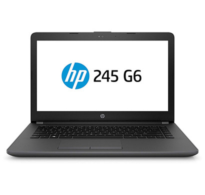 hp notebook 245 g6-6bf83pa#acj (amd a6/4gb ram /1tb hdd /dos /14inch screen ), black