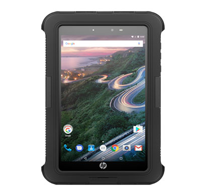 hp pro 8 rugged tablet with voice ( 8 inch, 2gb ram 16gb rom), black