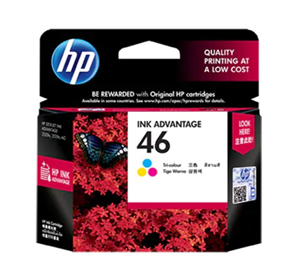 hp 46 tri-color ink cartridge-(cz638aa)