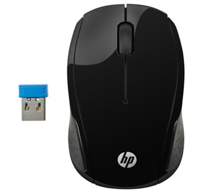 hp- 200, black wireless mouse, black, 1 year warranty