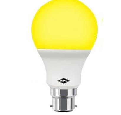 hpl - hplledb00527b2e2, 5w led glo bulb, pack of 1, yellow, 1 year warranty