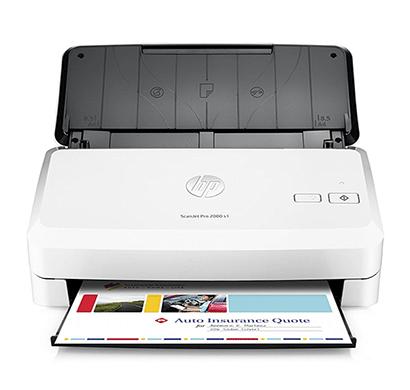 hp scanjet pro 2000 s1 sheet-feed desktop scanner white