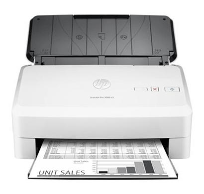 hp scanjet pro 3000 s3 sheet-feed scanner white