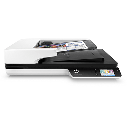 hp scanjet pro 4500 fn1 network scanner white and black