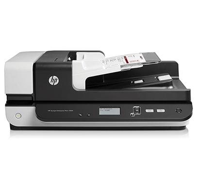 hp scanjet 7500 flatbed ocr scanner white and black