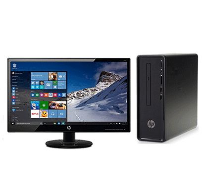 hp slimline 290-a0007il intel celeron/ 4gb ram/ 1tb hdd/ intel hd graphics/ 18.5 inch monitor/ free dos/ dvdrw/ hdmi out/ hp wired keyboard & mouse black
