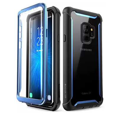 i-blason front & back case for samsung galaxy note s9 (black/blue)