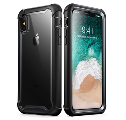 i-blason (b074v3wzcg) case for iphone x 2017/ iphone xs 2018, (ares) full-body rugged clear bumper case with built-in screen protector (black)