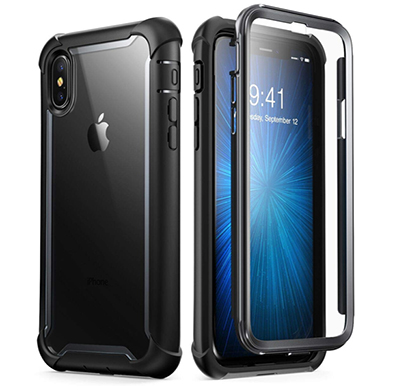 i-blason (b07gzm3prz) ares designed for iphone xs case, iphone x case, full-body rugged clear bumper case with built-in screen protector for iphone xs 5.8 inch (2018 release) (black)