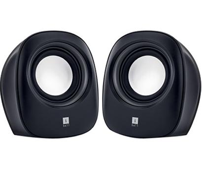 iball- soundwave 2, 2.0 speaker, black & white, 1year warranty