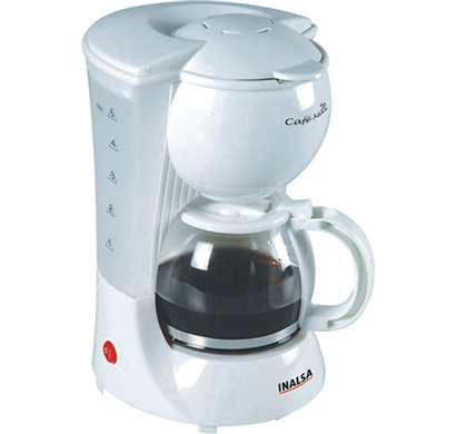 inalsa - cafemax, 600-watt coffee maker, white, 1 year warranty