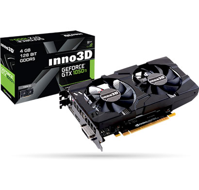 inno3d nvidia geforce gtx 1050ti compact 4gb ddr5 dual cooling fan video graphics (n105t-1sdv-m5cm)