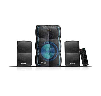 intex lt-3510 fmub 2.1 channel multimedia speaker (black)