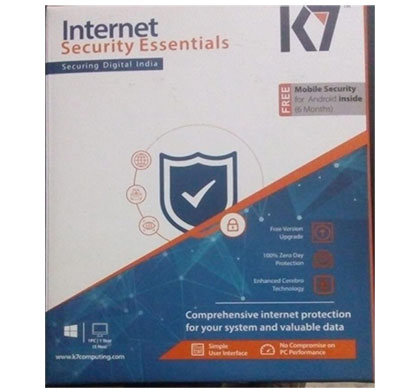 k7 internet security essentials 1 user, 1 year