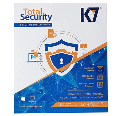 k7 total security antivirus - 1 user,1pc, 1 year warranty