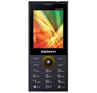 karbonn k9 staar feature phones 16gb (black)