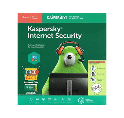 kaspersky internet security 3 user 1 year (3cd)