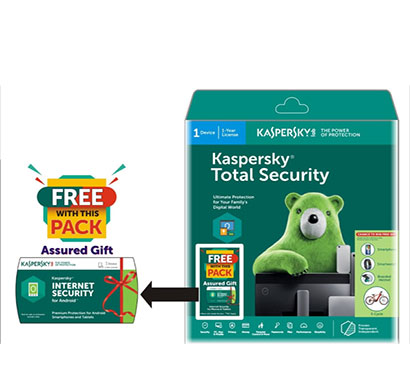 kaspersky total security - 1 user, 1 year free internet security for androld (1 device 1year)