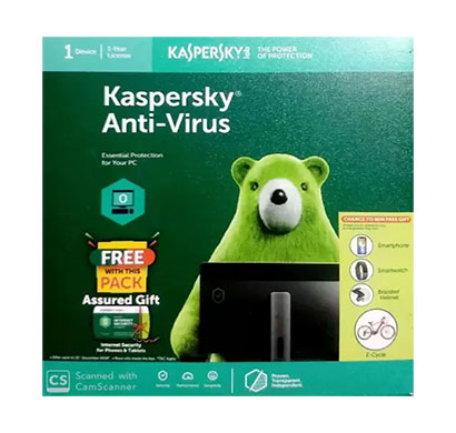 kaspersky anti-virus 1 user 1 year with media