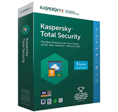 kaspersky total security- 3 users, 1 year (1cd)