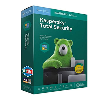 kaspersky total security 5 devices, 1 year (cd)