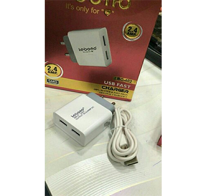 lebon 2.4 a double usb fast charger (white)