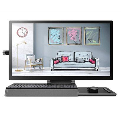 lenovo yoga a940-27icb (f0e4000yin) all in one desktop (intel core i7-9700/ 9th gen/16gb ram/2tb hdd/ 1tb ssd/ dvd rw/ 27 inch/windows 10/ms office 2016/wired keyboard & mouse/3 year warranty),silver