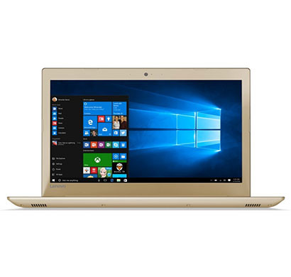 lenovo ideapad 520 (81bf00k8ih) laptop (i5-8250u/8gb ram/2tb hdd/windows 10/office h&s 2016/1506 full hd ips anti-glare/integrated gfx), golden