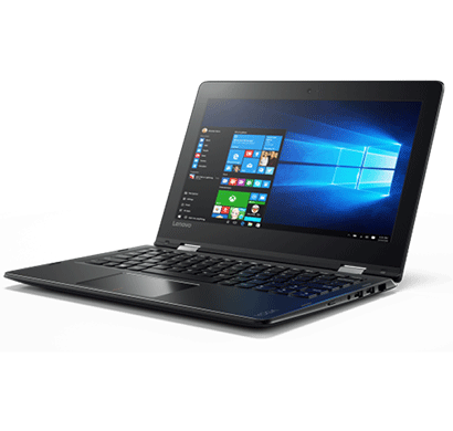 lenovo 80u2002qih yoga 310 11.6-inch laptop (pentium n4200/4gb/1tb/windows/integrated graphics), black