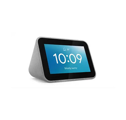 lenovo smart clock (with google assistant),(grey)