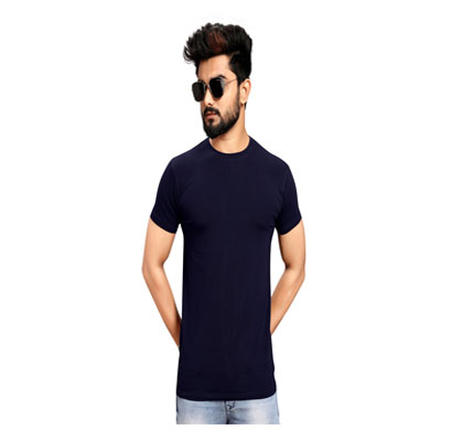 less q branded cotton lycra mens t shirts (magenda)
