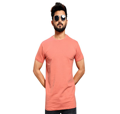 less q branded cotton lycra mens t-shirt (pale red)