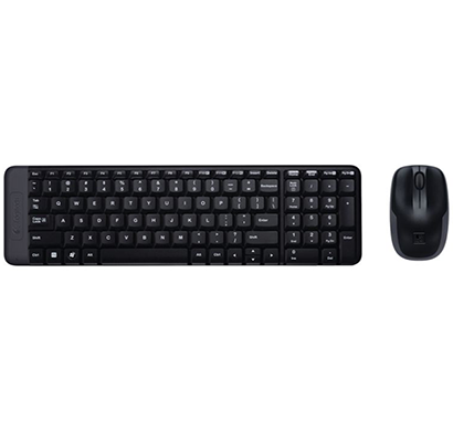 logitech- mk215, mouse combo and wireless keyboard, black, 1 year warranty