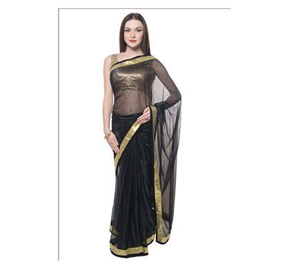 lycra golden border multicolor sarees