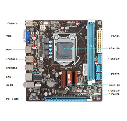 mente h81-jel mini-atx form factor motherboard