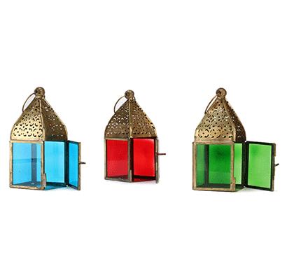 moroccan square lanterns - set of 3