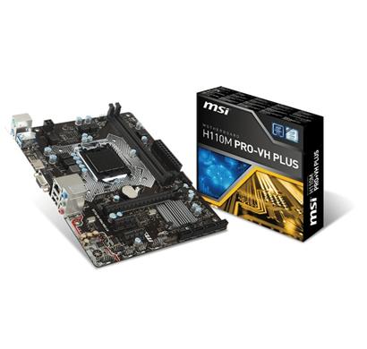 msi h110m pro vh plus motherboard (with hdmi) socket lga 1151