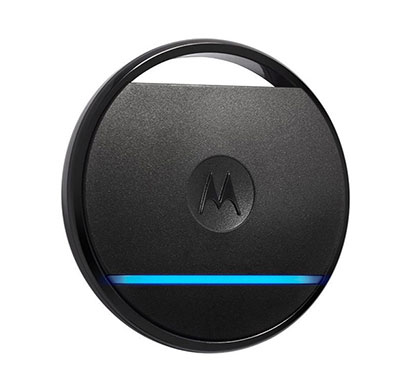 motorola connect coin with selfie button and key/phone finder black