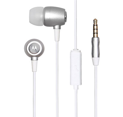 motorola ear buds metal headphones (silver)