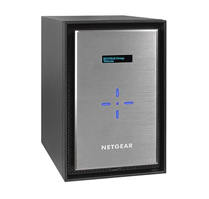 netgear (rn528x) readynas rn528x00 8 bay diskless premium performance nas, 80tb capacity network attached storage, intel 2.2ghz dual core processor, 4gb ram, rn528x00-100nes netgare rn528x