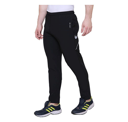 nike ultra-boost track pants (black and blue)