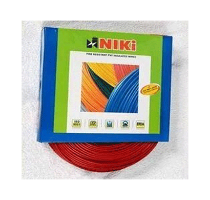 niki 1.00(32/20) sqmm fr insulated three core pvc cable red