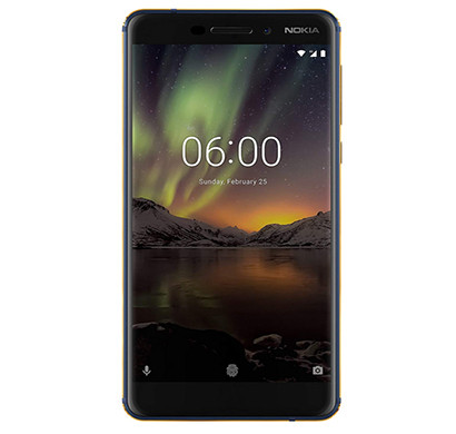 nokia 6.1 (4gb ram, 64gb storage),(blue-gold)