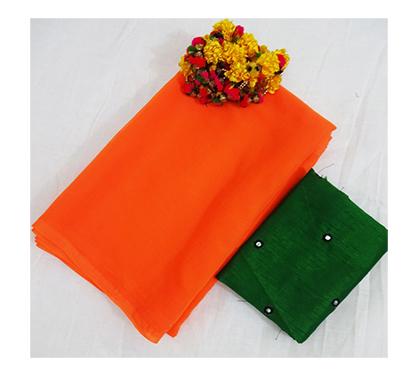 ojhas (surili-orange) marvel chiffon official saree (orange)