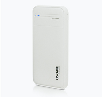 osome (vertu pb10a) power bank fast charging output with micro + type c port input leather finish compatibility (white)
