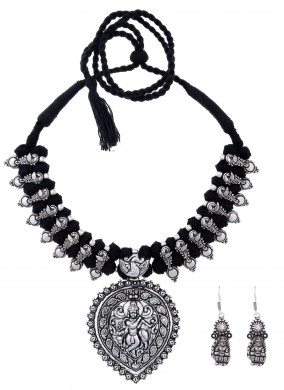 oxidised silver plated jewelry maroon & black lot2