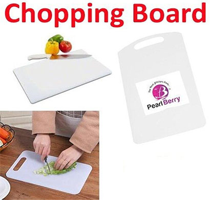 pearlberry cutting and chopping bord pack of 3 set white