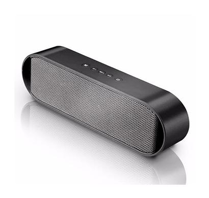 pebble 8w groove slide bluetooth speaker(black)